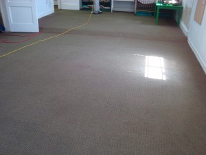 Playroom after cleaning