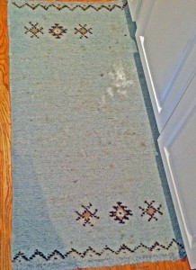 wool rug before cleaning